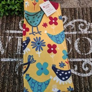 Floral Yellow/Red  2- in-1 Dual Kitchen Farm Towel